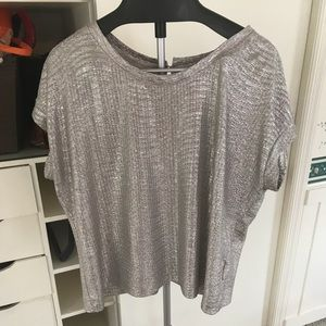 Adiva Silver shiny top! Worn twice XL